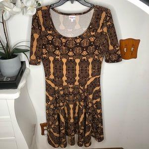 LuLaRoe Tribal Style Print Amelia Dress Size Large